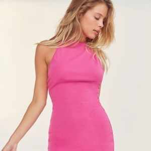BDG | High-Neck Cross Back Bodycon | Pink